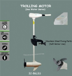 Saltwater Electric Trolling Motors 32-86lbs (White Color)
