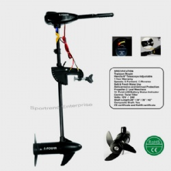 Freshwater Electric Trolling Motors 32-86lbs (Black Color)